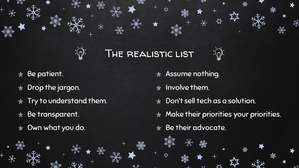 The Realistic List